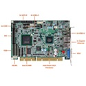 Picture of PCISA-PV-D4251 PICMG 1.0 Half-Size CPU Card