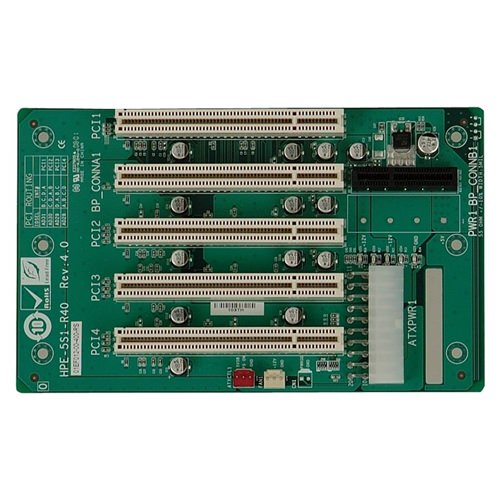Picture of HPE-5S1 PICMG 1.3 Half-Size Passive Backplane