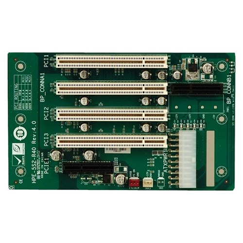 Picture of HPE-5S2 PICMG 1.3 Half-Size Passive Backplane