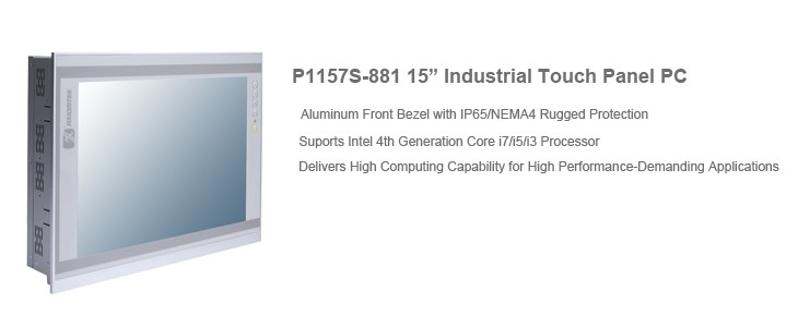 "P1157S-881 15"" Industrial Touch Panel PC"
