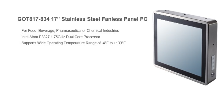 "GOT817-834 17"" Stainless Steel Fanless Touch Panel PC"