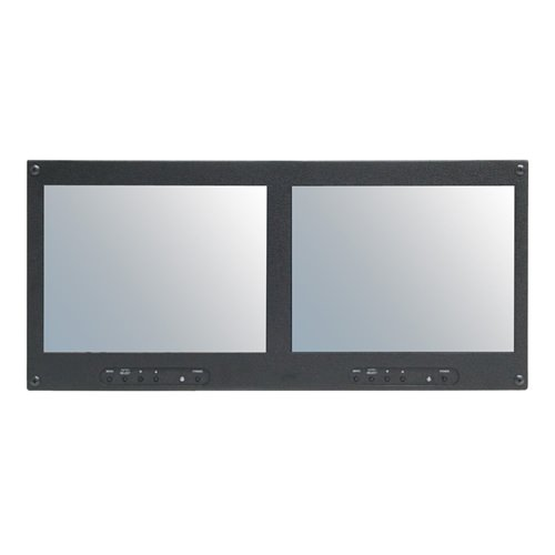 """Picture of RMM-102N Dual 10.4"""" Rackmount LCD Monitor"""